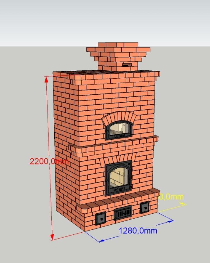 Печь камин для загородного дома